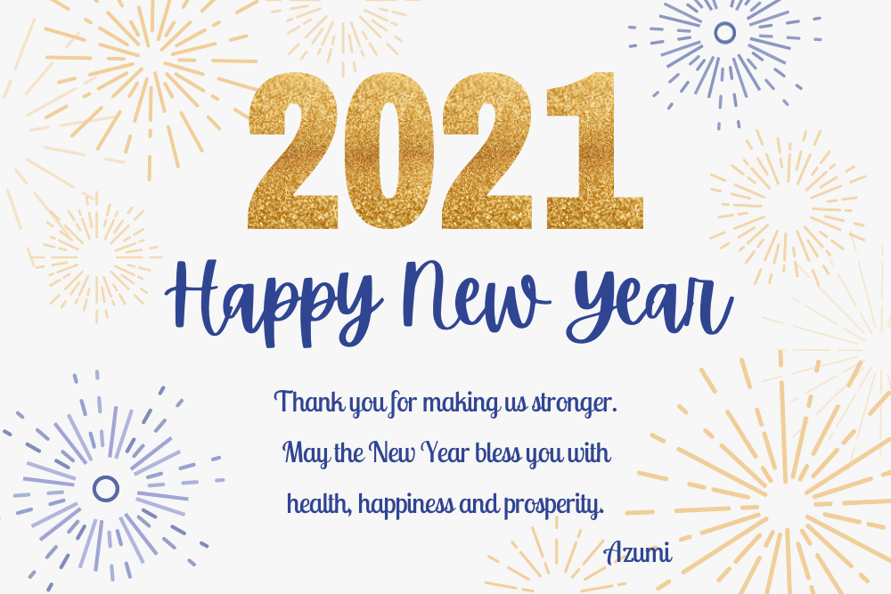 New Year Greeting 2021 To Our Customers
